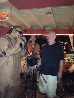 Rock n' roll legends Stevie Wonder & Dave Mason at Iggies Beach Bar