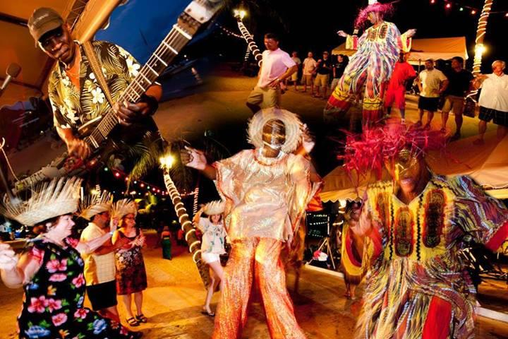 Moko Jumbies in the Virgin Islands