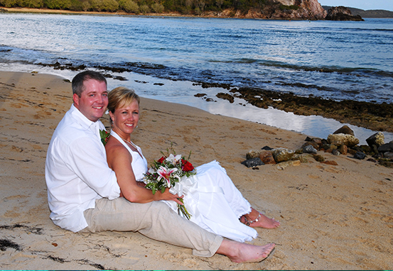 Andy and Camie Entrekin Tied the Knot at Bolongo Bay in March of 2007