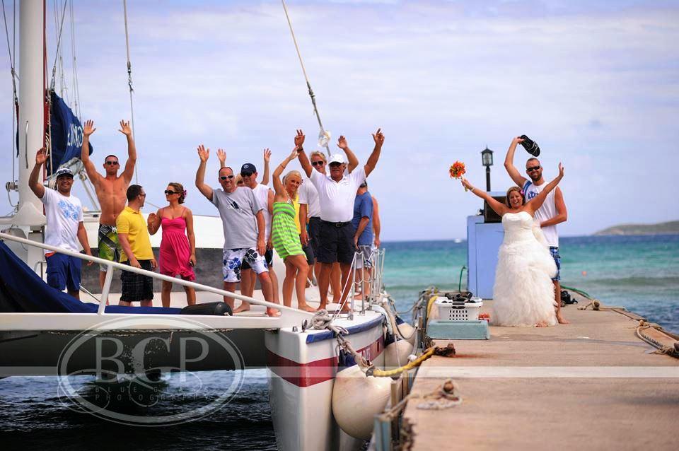 Enjoy a Wedding Receptions at Sea on the Heavenly Days Catamaran