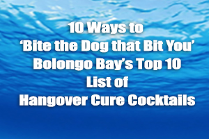 10 Ways to 'Bite the Dog that Bit You'  – Bolongo Bay's Top 10 List of Hangover Cure Cocktails