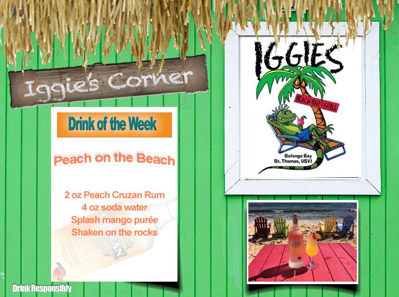 peach on the beach drink