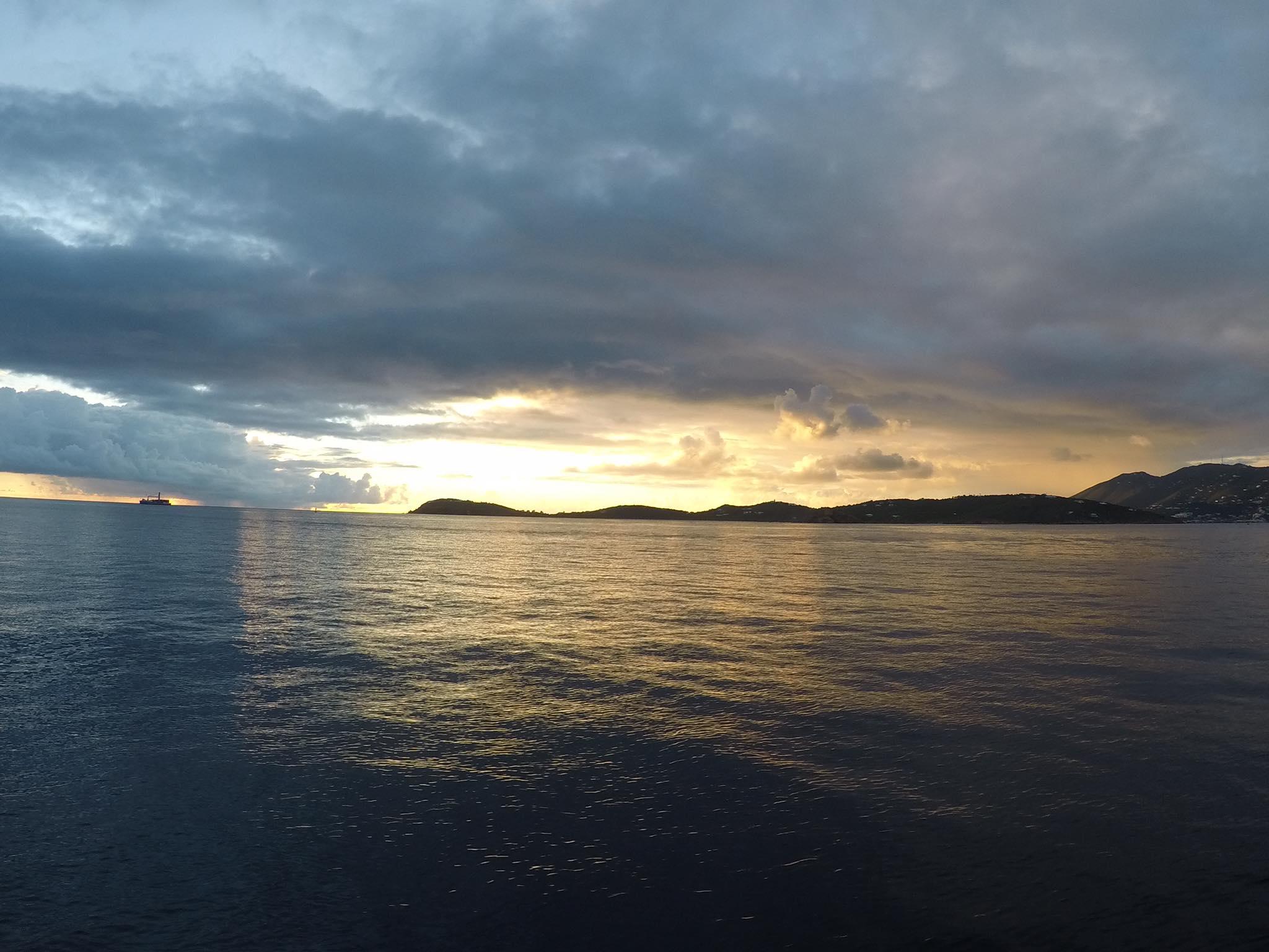 Sunset catamaran sail